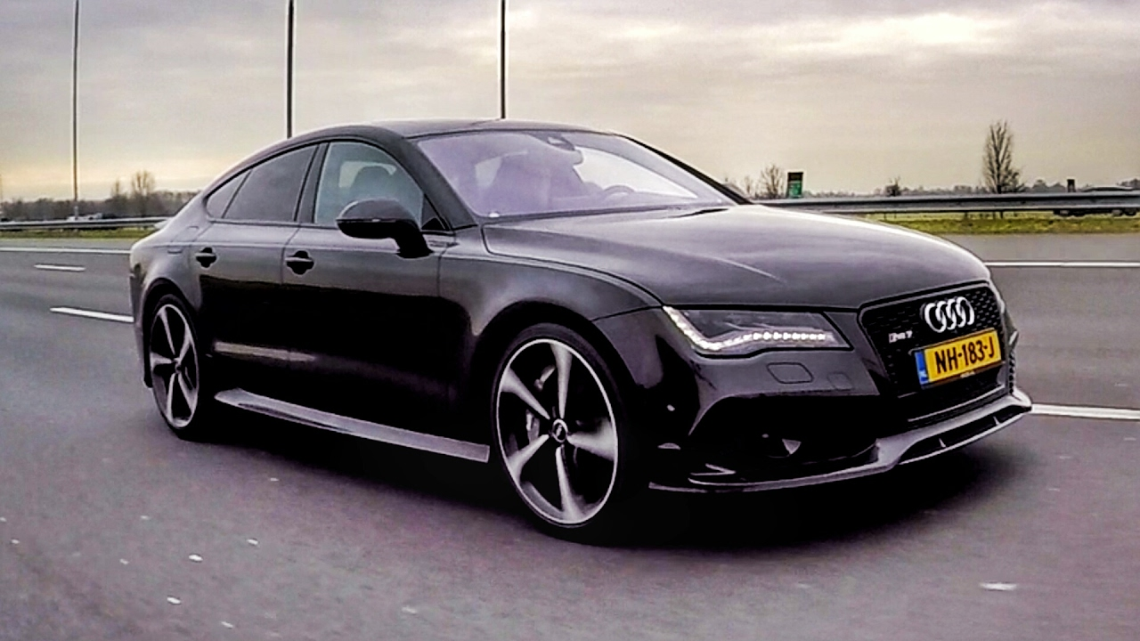 Black Audi RS Sportback YouTube - Black audi