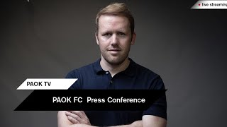 Live: PAOK FC Press Conference - PAOK TV