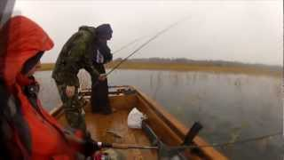 Wooden fishing boat and Outland 1700 trolling motor