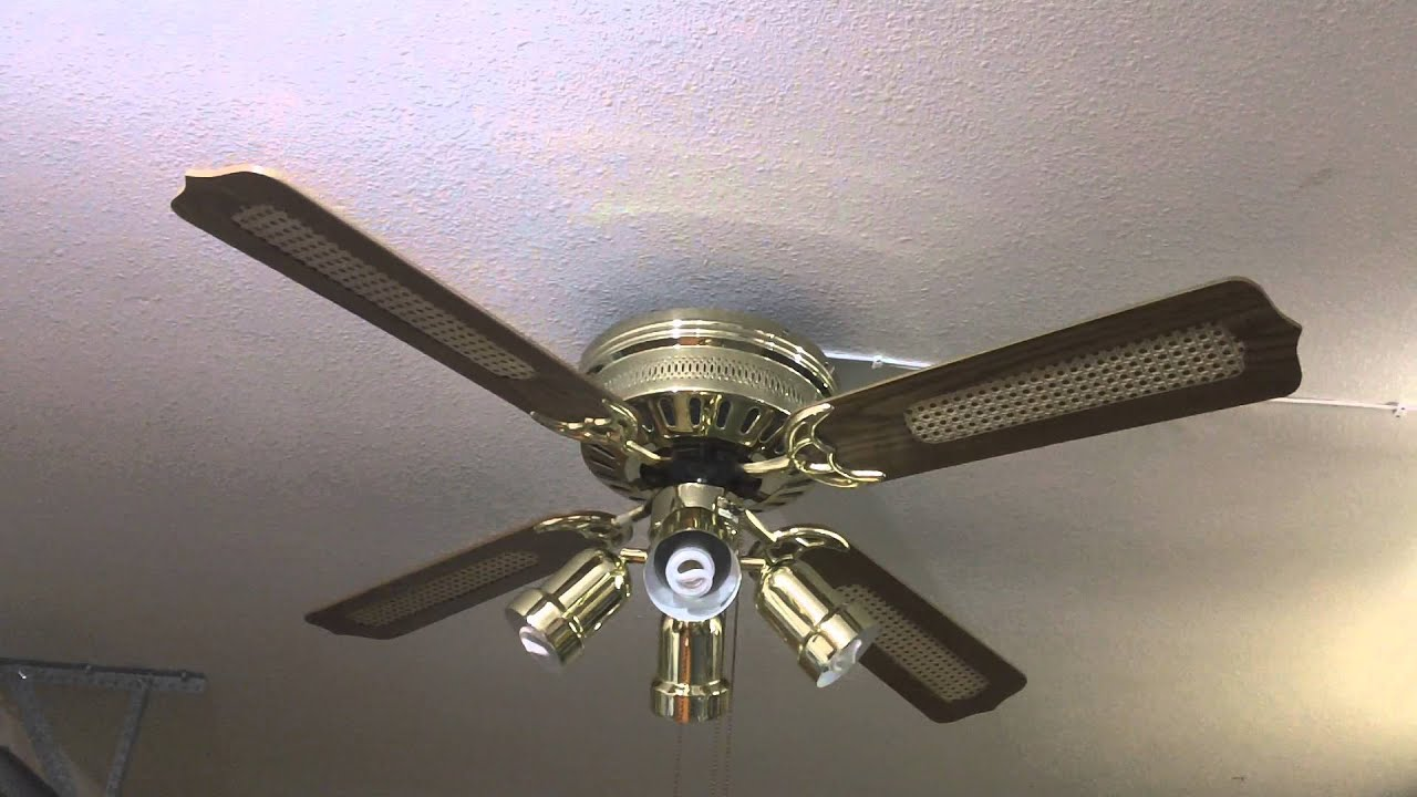 "52"" Air Cool Hugger Ceiling Fan - YouTube"