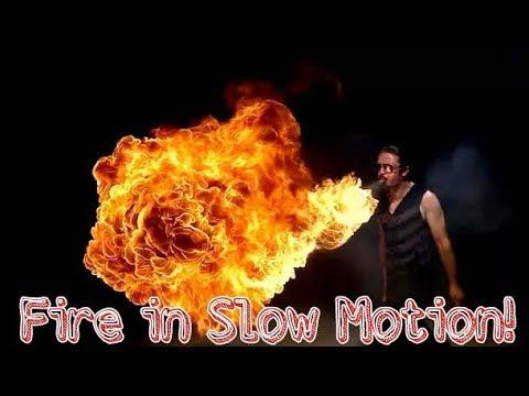 Body Spray on fire in slow motion!