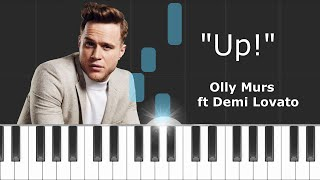Olly Murs -  Up ft  Demi Lovato Piano Tutorial - Cover - How To Play - Synthesia
