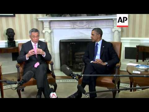 Obama meets Singapore's Lee, Kerry welcomes Philippines' Del Rosario