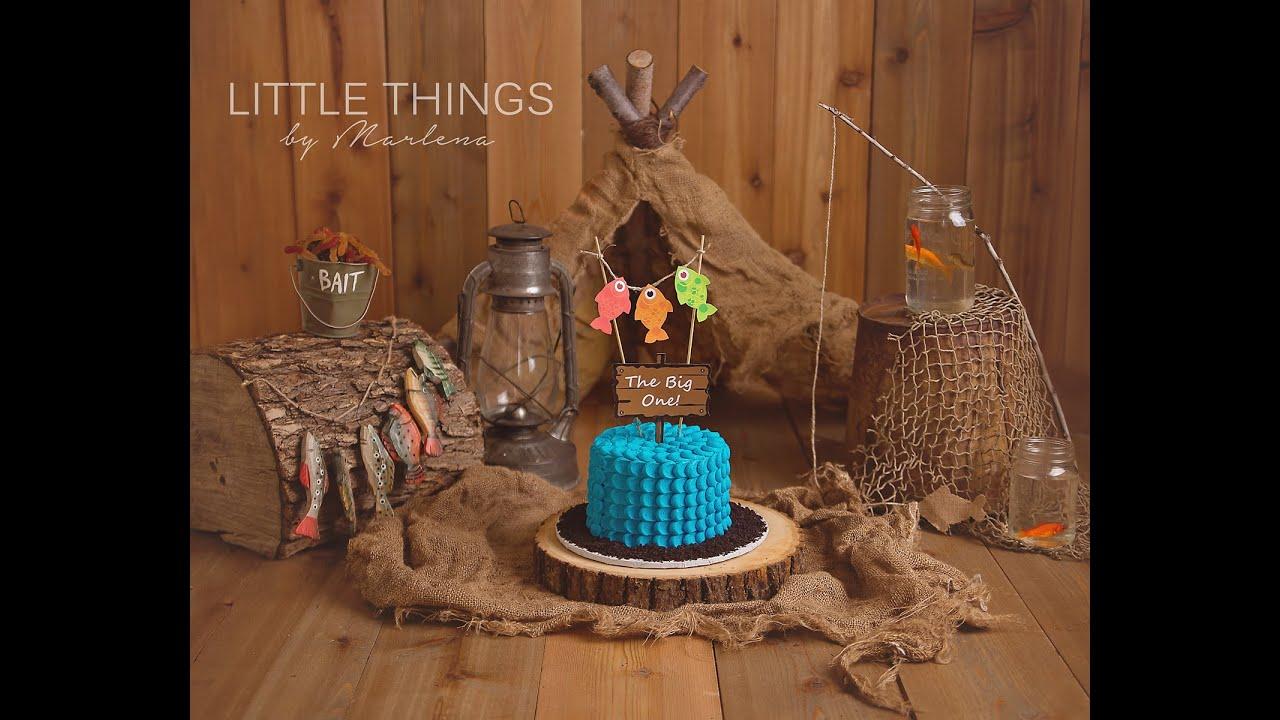 Gone Fishing Theme Cake Smash Youtube