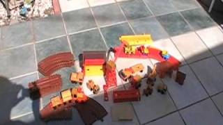 Wooden Toy Train And Construction Set