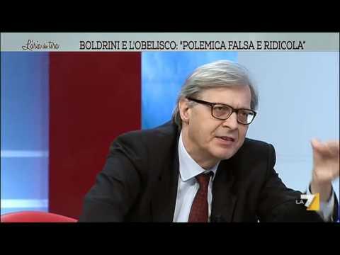 Vittorio Sgarbi: 'Boldrini torni a scuola e non faccia la capra'
