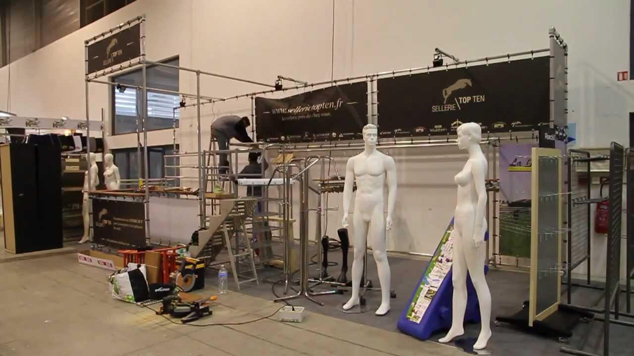 2013 montage stand exposition pour le salon du cheval youtube