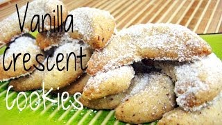 German Vanilla Crescent Cookie Recipe| Christmas Cookies| Bánh Noel Đức| 德式月形聖誕餅乾的做法