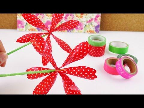 Washi Tape Blume selber machen | Deko für euer Zimmer & als Geschenk Idee | Flower Summer