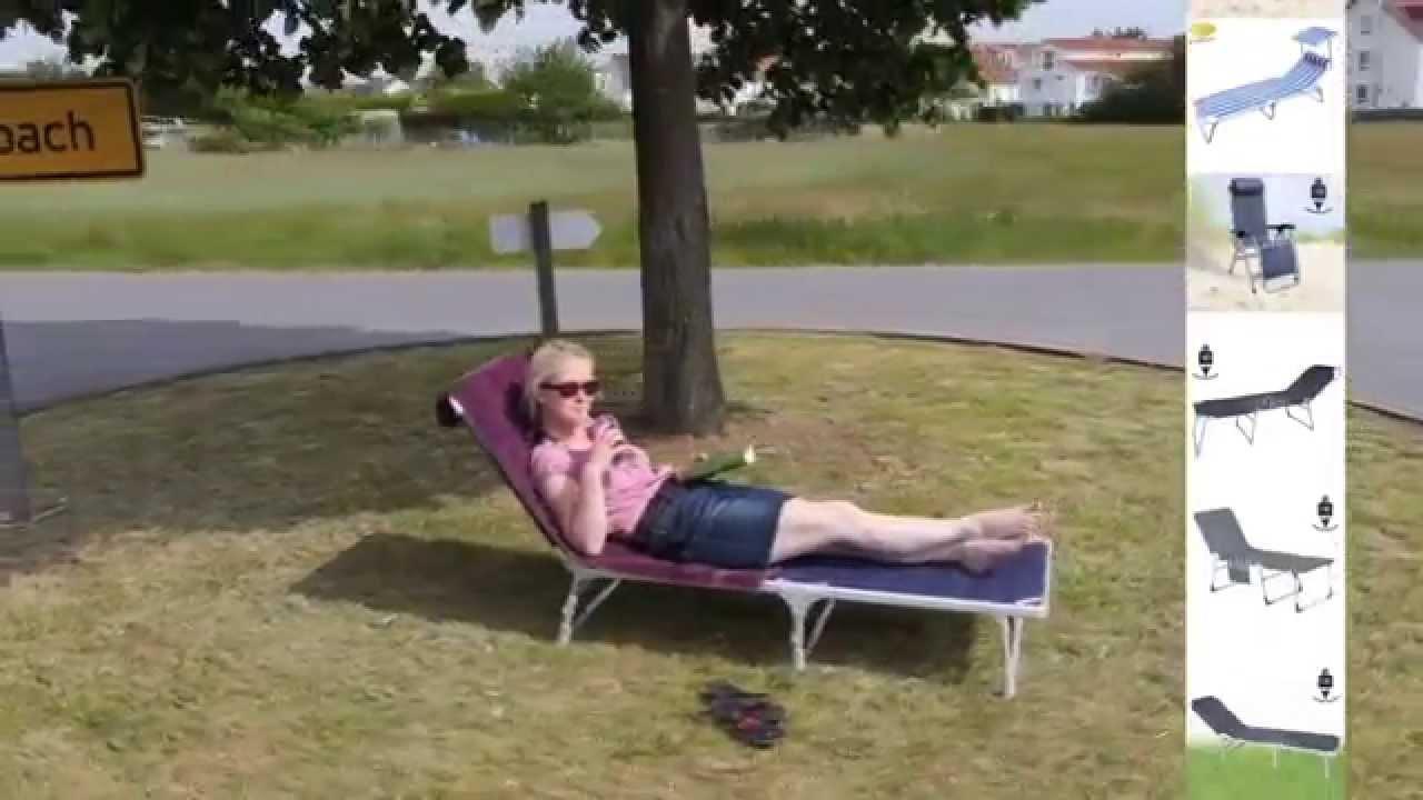 Campingmöbel Campingliege Sonnenliege