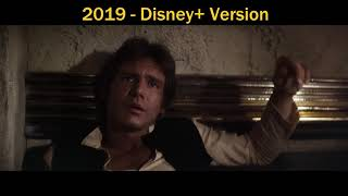 Han/Greedo Scene New 2019 Disney+ Change Comparison (Maclunkey)