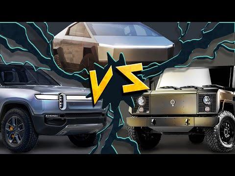 Tesla Cybertruck vs Rivian R1t vs Bollinger B2. We Compare All Three!