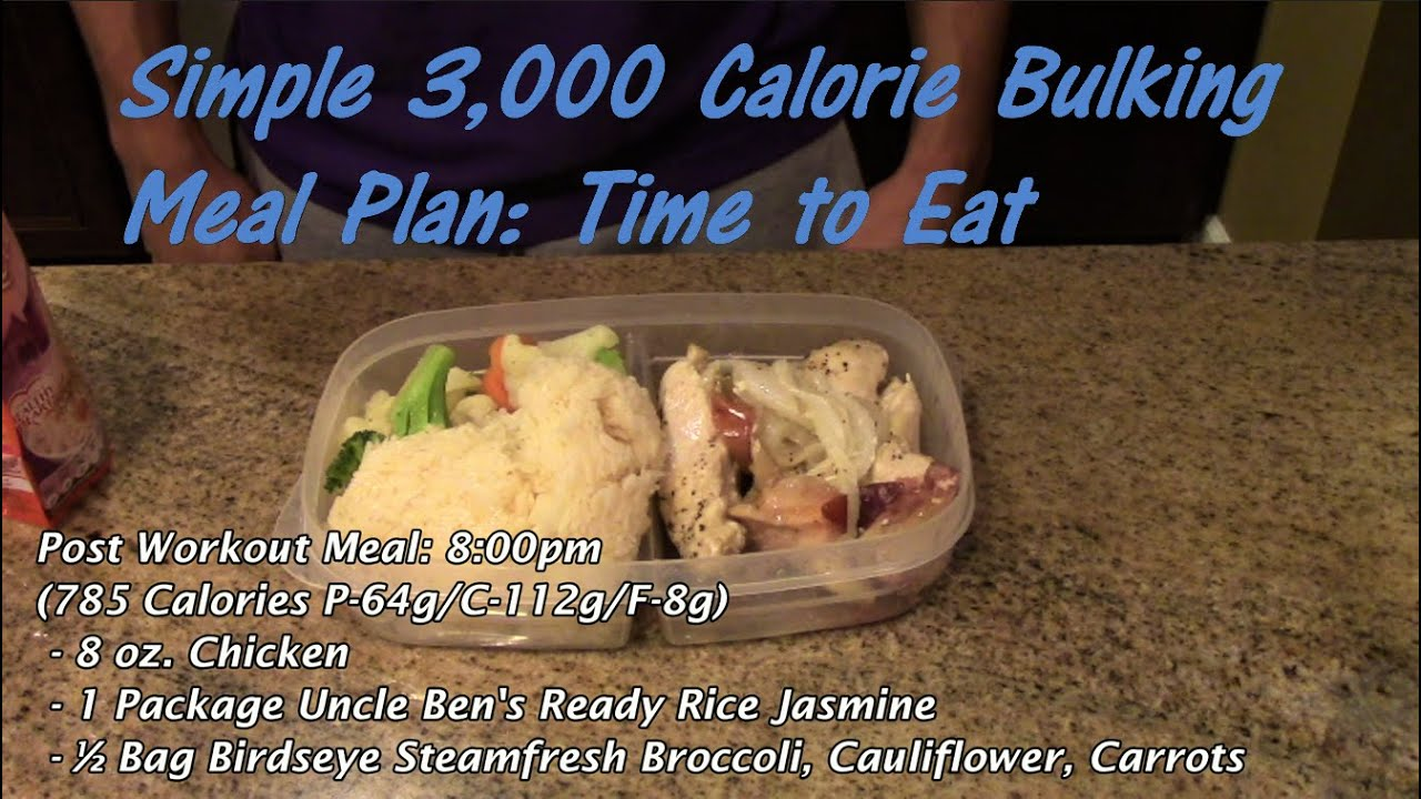 Simple 3,000 Calorie Bulking Meal Plan: Time to Eat