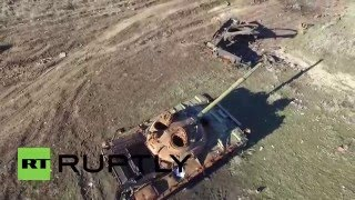 Ukraine: Drone captures destruction of 'Debaltsevo Cauldron' one year on