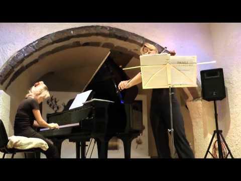 "Edua Zadory & Anastasiia Dombrovska ""Israeli Concertino"" live at Megaro Gyzi Festival 2012"