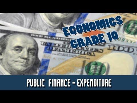 Economics : Public Finance | Public Expenditure