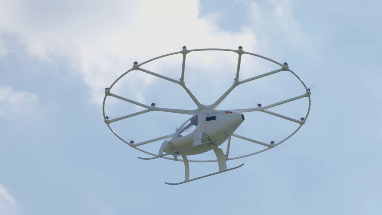 Volocopter flight footage
