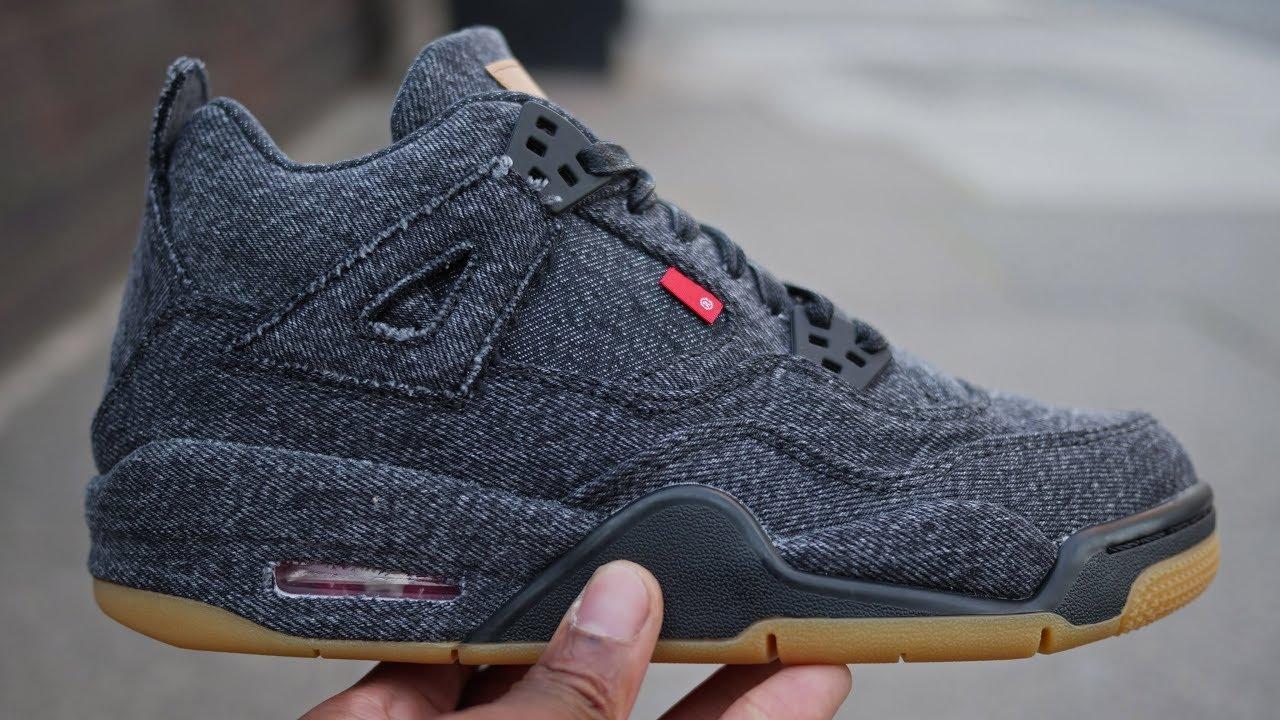info for 82201 e2df2 Levi's x Air Jordan 4 'Triple Black' Denim Quick Look