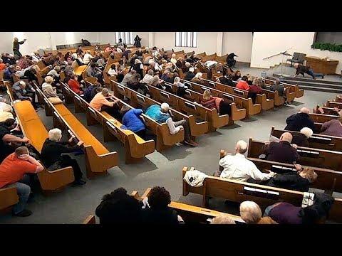 video: Texas church shooting: armed parishioners kill gunman after two left dead in shotgun attack
