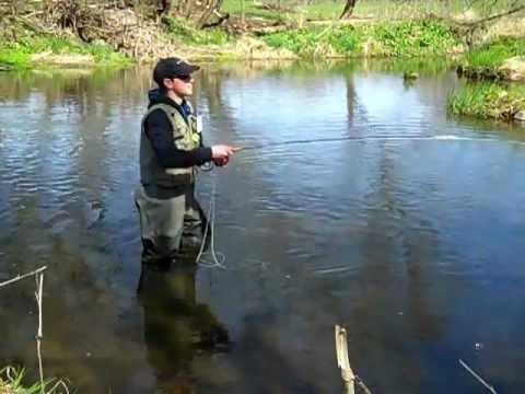 Fly fishing wisconsin early season trout 2012 part 2 for Wisconsin fishing season