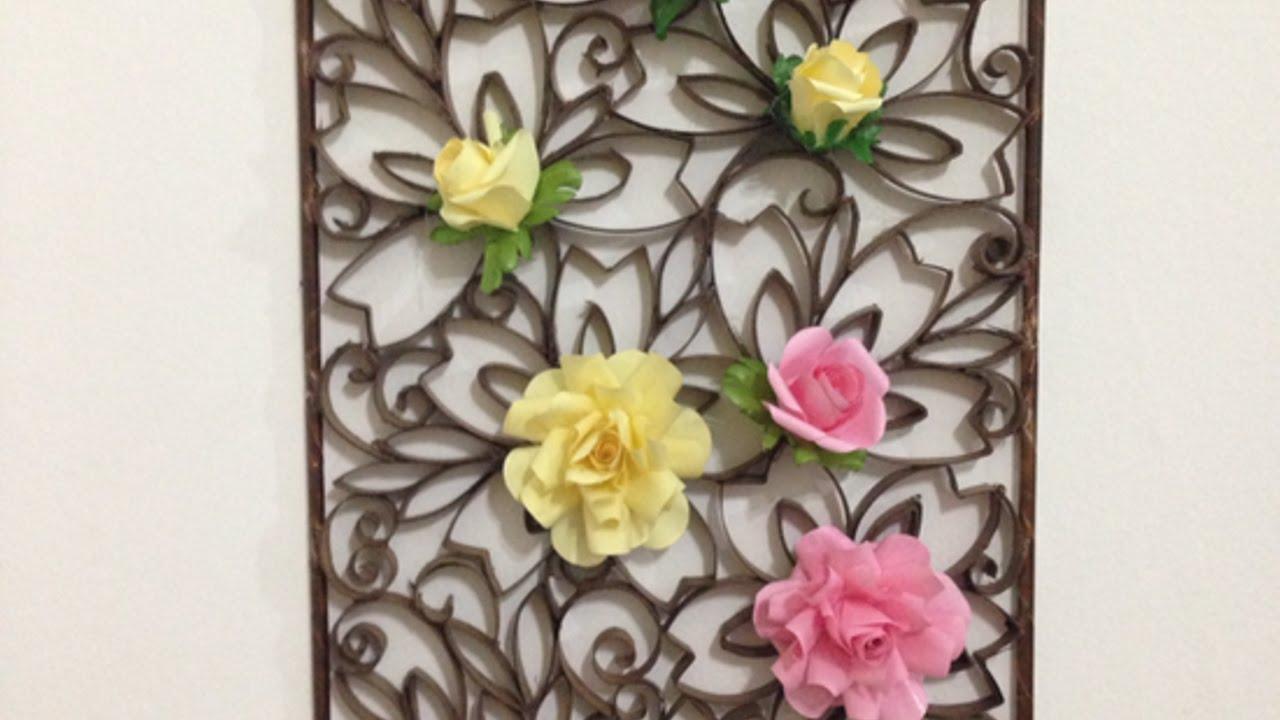 Crea una bellissima decorazione da parete di carta fai - Applique da parete fai da te ...