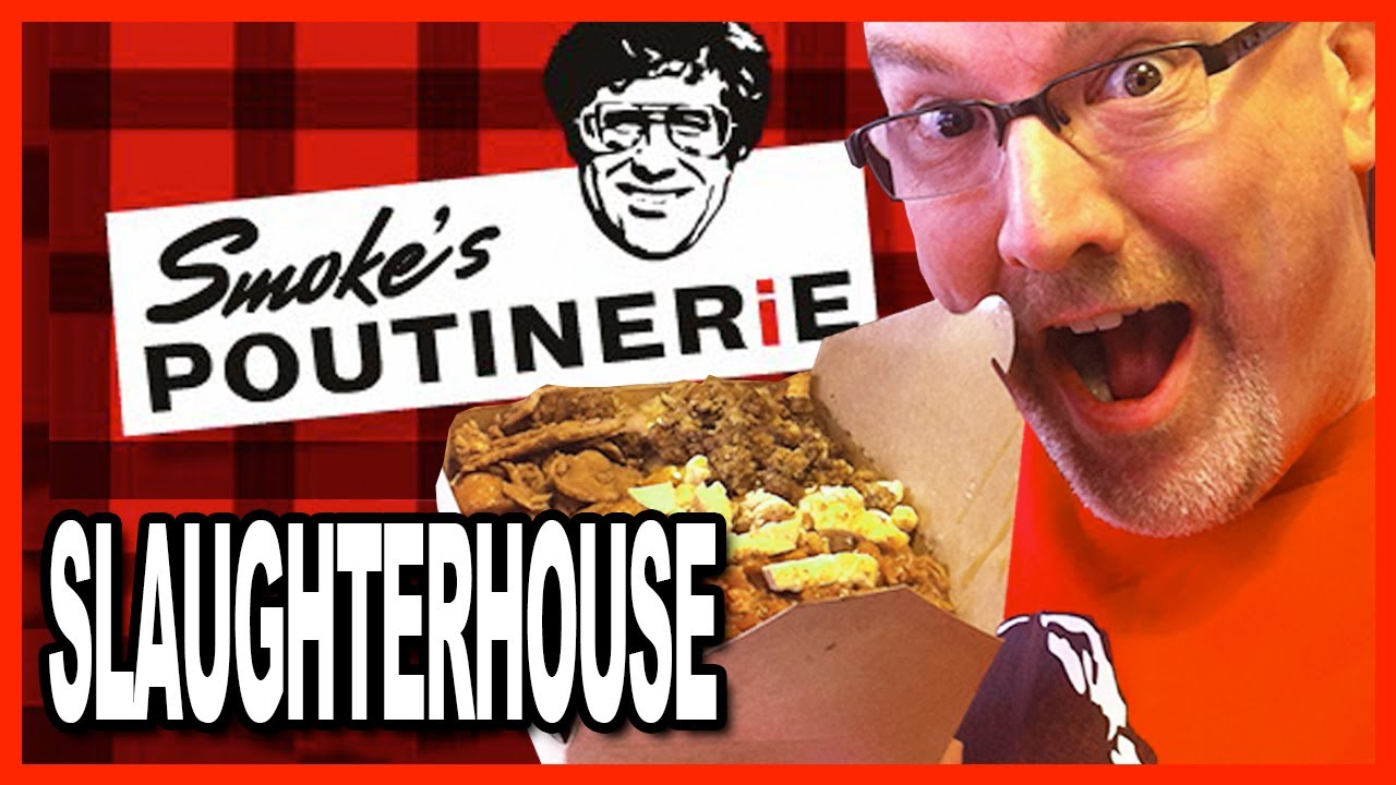 The Slaughterhouse Challenge Smoke's Poutinerie 6 Meat Topping on a WOW! Sized Poutine