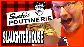 The Slaughterhouse Challenge Smokes Poutinerie 6 Meat Topping on a WOW! Sized Poutine