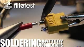 Flite Test - Soldering Battery Connectors - FLITE TIP