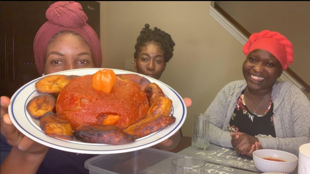 AFRICAN FOOD MUKBANG| PIÑON (TOGO)