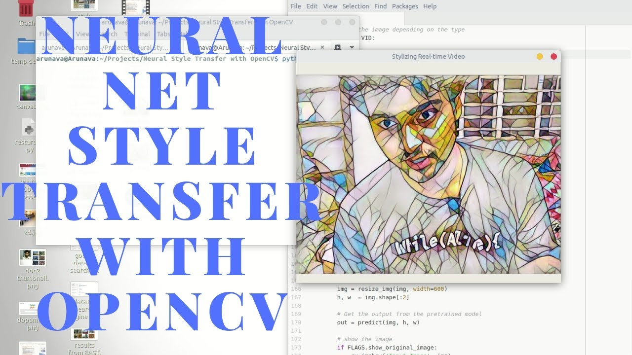 Neural Net Style Transfer with OpenCV