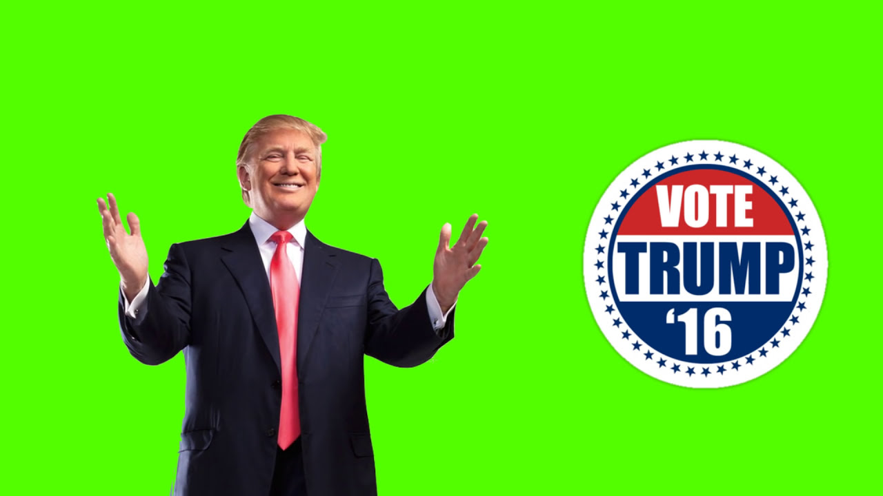 Vote For Donald Trump - Free Green Screen Footage Download ...