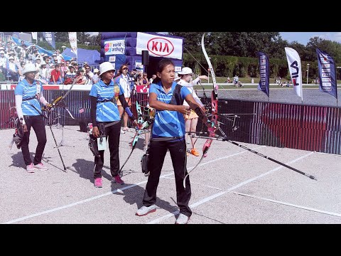 Korea v India – recurve women's team gold | Wroclaw 2013 Archery World Cup stage 4