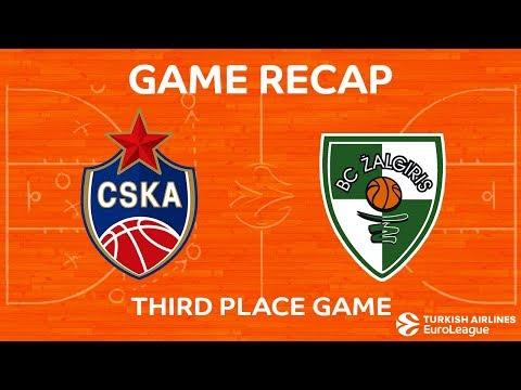 Third Place Game Highlights: CSKA Moscow - Zalgiris Kaunas