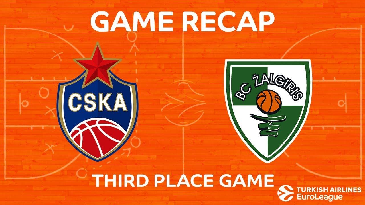 Üçüncülük maçı özeti | CSKA Moskova- Zalgiris Kaunas Videosu