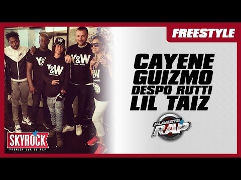 Cayene, Lil Taiz, Guizmo & Despo Rutti en freestyle #PlanèteRap