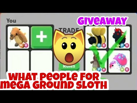 What People Trade for Mega Neon Ground Sloth In Adopt Me Trading