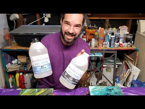 Sealing An Acrylic Pour With Resin | With Paris Bosserman