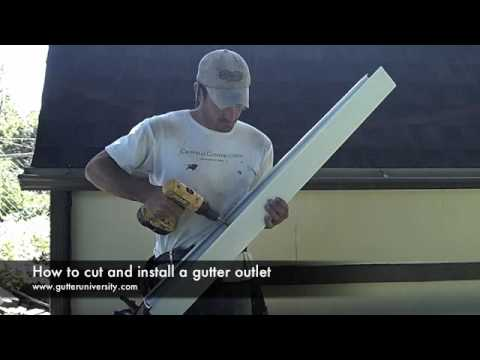 How To Cut And Install A Gutter Outlet Youtube