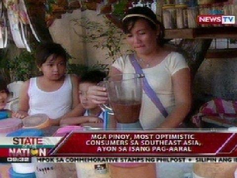 SONA: Mga pinoy, most optimistic consumers sa Southeast Asia, ayon sa isang pag-aaral