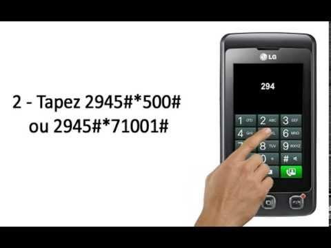 Comment Debloquer telephone Portable LG KP500