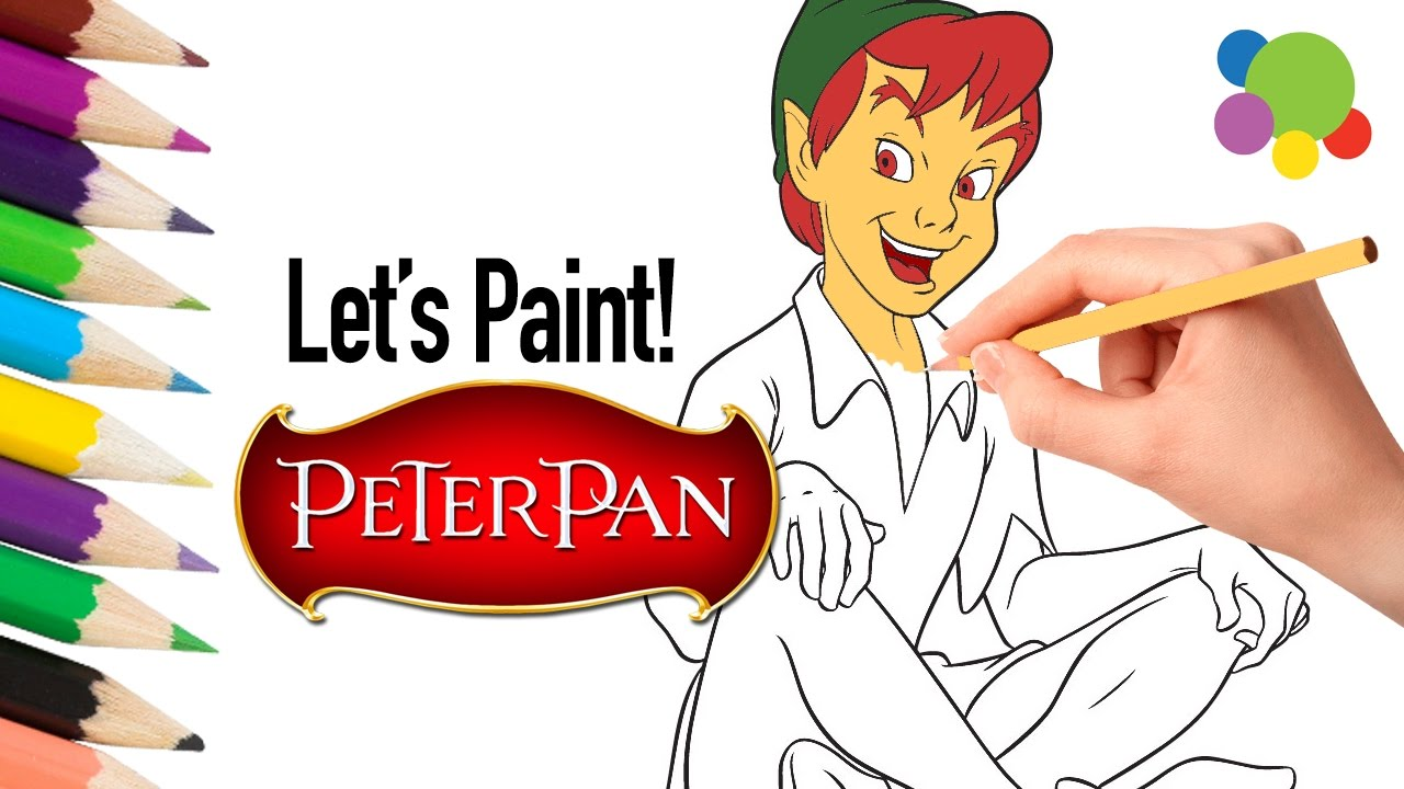Give Colors To Your Favorite PETER PAN | Coloring Pages for Kids | Learning  Videos for Children