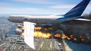 GTA 5 | B747 Engines Explosion Emergency Landing (HD)