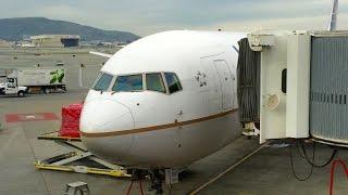 Turbulence!! United Airlines B767-400ER - Takeoff - San Francisco to Honolulu