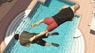 GTA 5 CRAZY Jumps/Falls Compilation #12 (GTA 5 Ragdolls Fails Funny Moments)