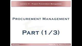 PMP Preparation - 12 Procurement Management (1/3)