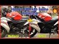 Honda CBR 150 home detailing   बाइक डिटेलिंग घर में