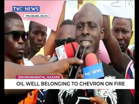 Oil Well Belonging To Chevron On Fire In Delta