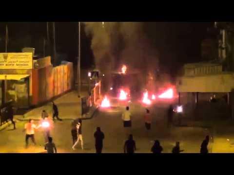 "HD| Bahrain Molotov Cocktails HEAVY CLASHES | Bahrain War Protest 2013 - ""friedliche Demonstranten?"""