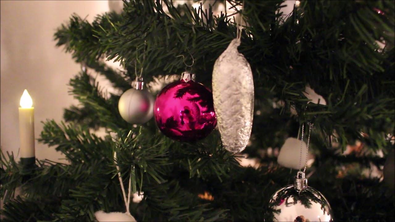 Rosa Weihnachtsbaum.Unser Weihnachtsbaum 2018 Christbaum Schmücken Christbaumschmuck Dekorieren Weiss Silber Rosa