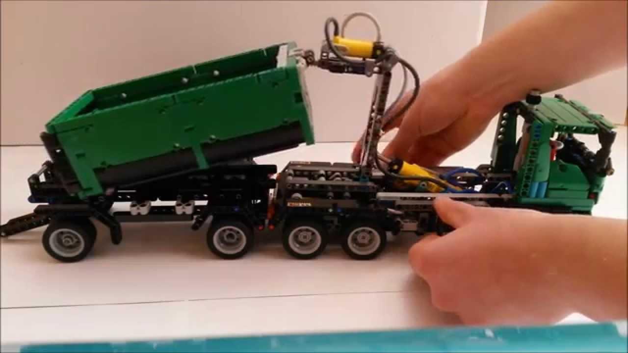 lego technic kreation 18 hakenlift lkw youtube. Black Bedroom Furniture Sets. Home Design Ideas
